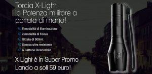 torcia x light militare